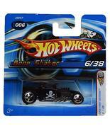 Hot Wheels 2006 First Editions 6/38 [Black] Bone Shaker #006 Short Card - $16.65