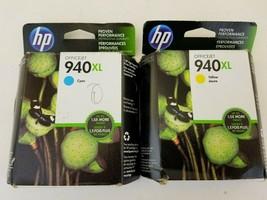 HP 940 XL Ink Cartridge Yellow, Cyan - Expired nov. 2015 - $13.46