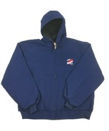 PELLA Outdoor Rugged Lined Hooded Jacket PATRIOT SEED Navy XL Work Heavy... - $44.55