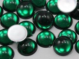 KraftGenius Allstarco 25mm Green Emerald H106 Round Flat Back Acrylic Cabochons  - $5.24