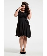 SWAK Designs Sexy Black Eternity Wrap Short Dress, Versatile Party Festive Fun - £35.26 GBP