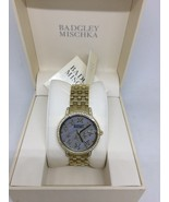 BADGLEY MICHKA Swarvovski Crystal Women's Gold Tone Watch BA/1390GMGB - $23.75