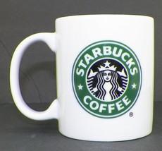 Starbucks Mermaid Coffee Cup Mug White Porcelain With Logo 9 Oz 2005 Green Logo - $9.99