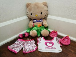 "Build A Bear Hello Kitty 17"" Sun Kissed Tan Plush and Clothes Set - $27.08"