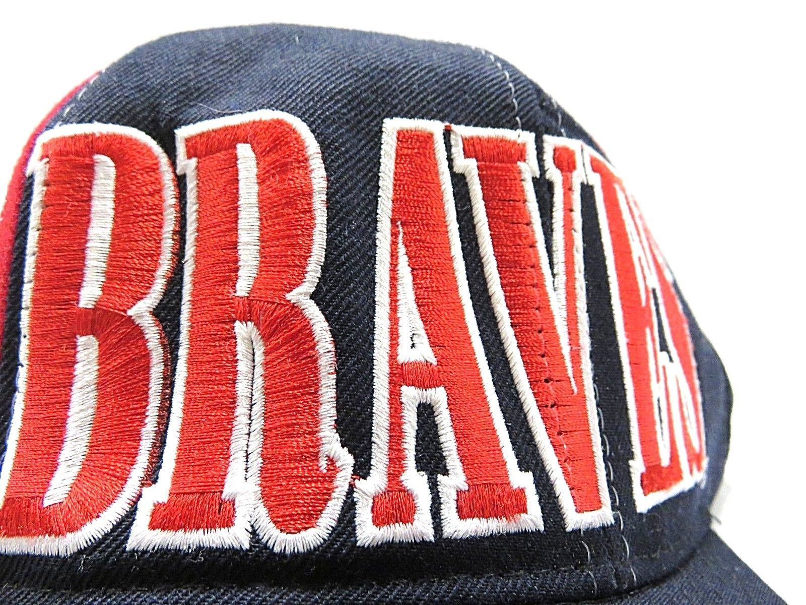 90s Script Starter MLB Atlanta Braves Baseball Hat Snap Back Adult Adjustable