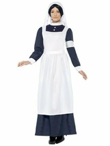 Smiffys Great Nurse WW1 WW2 1940s Florence Nightingale Halloween Costume... - $35.99