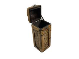 Bamboo Wooden Treasure Chest Wine Box Keepsake Trunk for Home Decorative... - $19.20