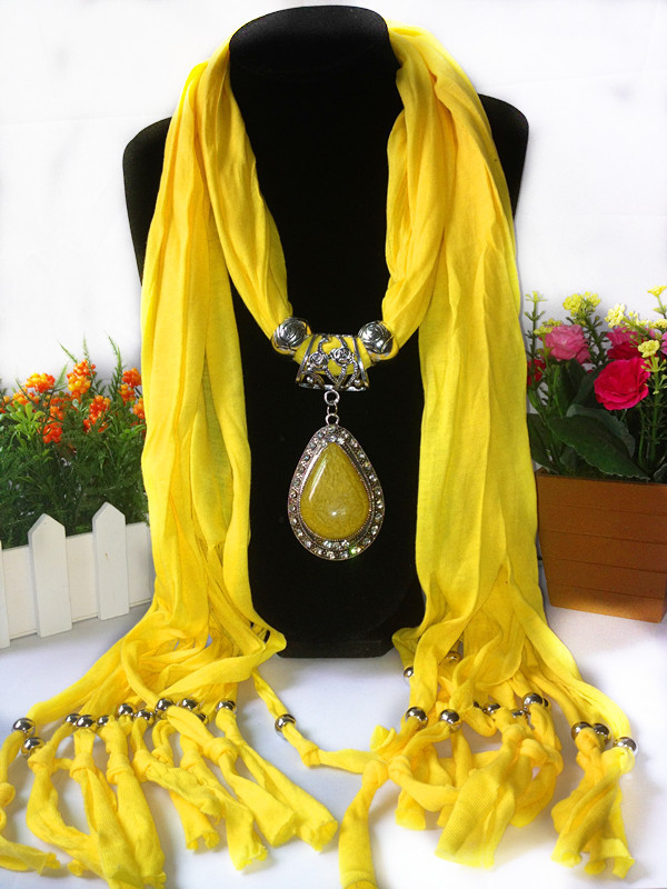 Charms Scarf jellery pendant Scarf Scarves lace Scarf image 13