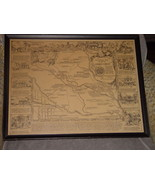 Historical Map of Elbert County By William Etsel Snowden JR. Frame - $139.00