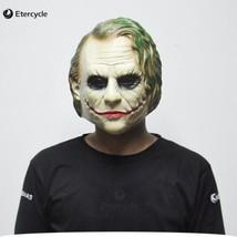 Cosplay Joker Mask Batman Clown Costume Movie Adult Party Masquerade Rub... - $36.74 CAD