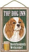 """Top Dog Inn Beerhounds Cavalier Bar Sign Plaque dog 10"""" x 16""""  Beer  - $21.95"""