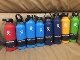 18oz or 21oz Hydro Flask Wide Mouth Red  blue yellow Cobalt Lime Green authentic image 1