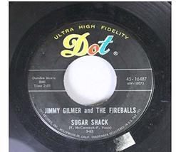 sugar shack 45 rpm single [Vinyl] JIMMY GILMER & FIREBALLS - $14.97