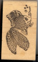 Stamp Affair Rubber Stamp F-244 Happy Goldfish SM S4 - $6.89