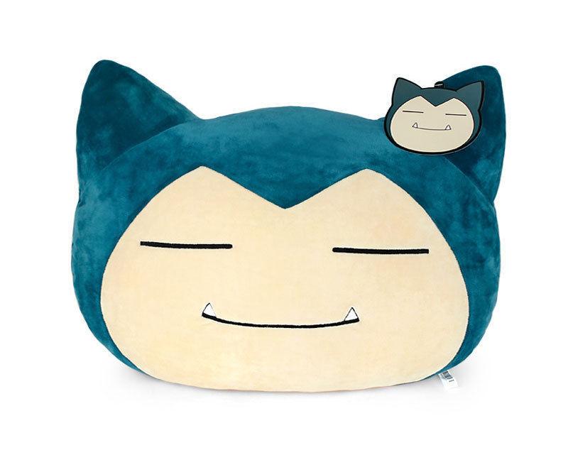 New Pokemon Cushion Snorlax Face Plush Doll Length 40cm Pillow Toy Pikachu Soft