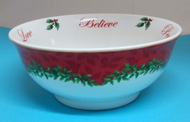 Spode 2013 Annual Christmas Tree Nut Bowl S3324-a13 In Great Shape!  Red w Holly - $39.11
