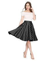 Maggie Tang 1950s Vintage Retro Polka Dots Swing Rockabilly Casual Skirt... - $36.34