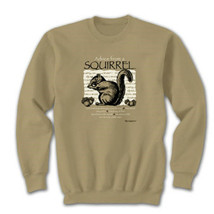 Sweatshirt Jerzees Advice From A Squirrel S M L Tan NWT New Cotton Blend - $25.25