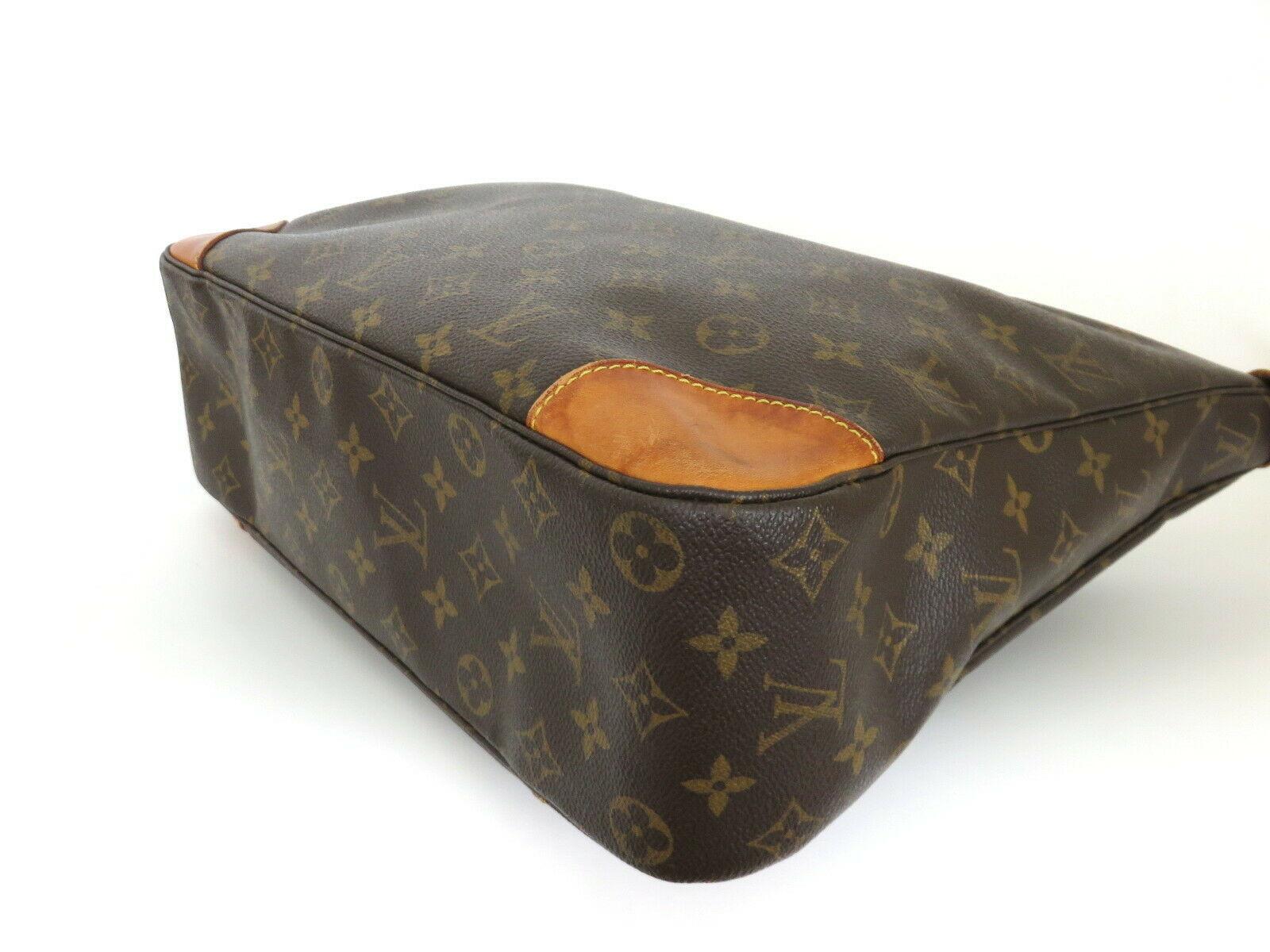 Authentic LOUIS VUITTON Monogram Canvas Leather Boulogne 35 Shoulder Bag image 4