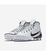 NEW Nike CJ3 FLYWEAVE ELITE TD New Men's WHITE Black Football Cleats Sho... - $84.06