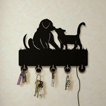 Dog And Cat LED Wall Hook Keys Handbags Hanger Clothes Rack for Animals ... - $29.81+