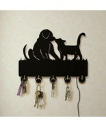 Dog And Cat LED Wall Hook Keys Handbags Hanger Clothes Rack for Animals ... - £23.42 GBP+