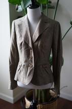 Nwt Ann Taylor Loft Petite 4p Wool Brown Tweed Blazer Jacket Career $228 - $47.49