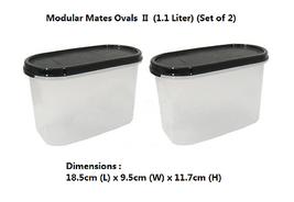 Tupperware Modular Mates Oval II (Set of 2) Bla... - $28.04