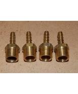 "1/4"" Hose Barb x 3/8"" Male NPT Brass Pipe Fitting Rigid Adapter 4 each U... - $9.49"