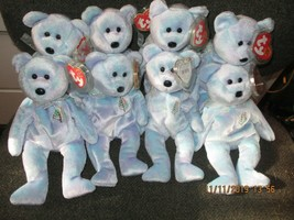 COLLECTION OF 8 MINT WITH TAG PROTECTED  TY ISSY BEAR BEANIE BABIES LOT #3 - $34.65