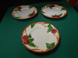 "-Magnificent FRANCISCAN  ""Apple"" Pattern THREE -Bread-Salad-Dessert Plates - $11.49"