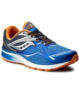 Saucony Ride 9 Youth Running Shoes | Blue / Orange | Size 6.5 M - $49.49