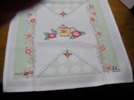 "Vintage  linen tea towel hand towel Signed Mary Engelbert 16X26"" - $9.99"