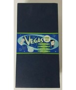 Vegas Game Set 2 Decks Playing Cards Dice 50 Chips Games Manual Complete  - $23.36