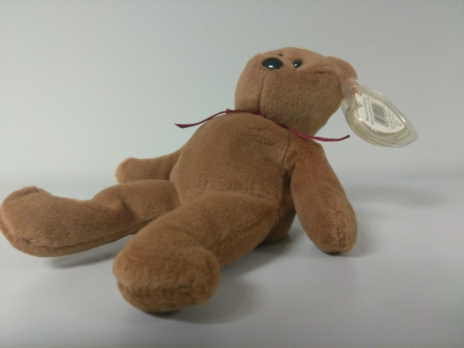 1st Edition TY Beanie Babies Rare Teddy no stamp, PVC and style line image 4