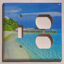 Blue Tropical beach ocean Light Switch Power Outlet Wall Cover Plate Home decor image 7