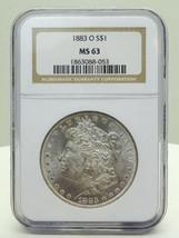 1883-O $1 Morgan Silver Dollar NGC Certified MS 63 - $75.00