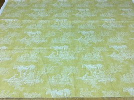 Waverly Mayenne Yellow Cotton Toile with Cows Multi-Purpose Fabric 1.375... - $26.13