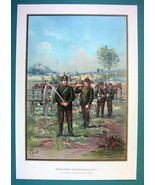 GERMAN ARMY 12th Regiment of Field Artillery (Royal Saxon) - COLOR Litho... - $14.85