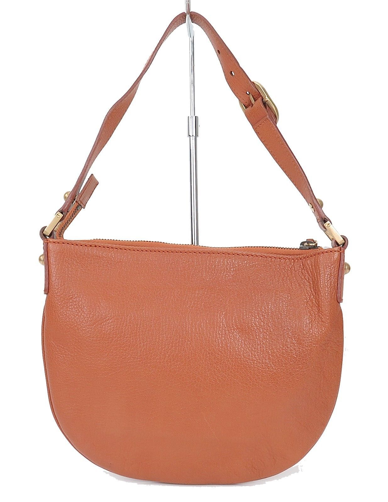 ae7a7bf79ebc1f ... Authentic GUCCI Blondie Brown Leather Hand Shoulder Bag Purse #25503 ...