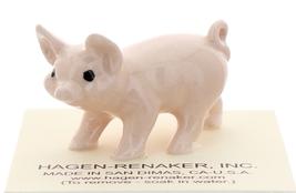 Hagen-Renaker Miniature Ceramic Pig Figurine Pink Piglet Standing image 1