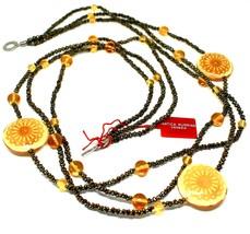 Necklace Antica Murrina Venezia with Glass of Murno Disc Beige & Gold CO724A10 image 2