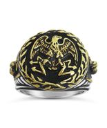 Imperial Roman Eagle mens signet ring    Sterli... - $89.00