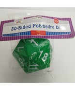 20 Sided Polyhedra Dice Foam 14 Cm GREEN and WHITE - $11.88