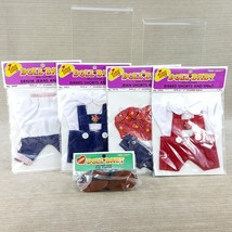 "Vintage Doll Baby Clothes Bibbed Shorts Jeans Shirt Shoes 6-7"" Dolls 5 P... - $23.36"