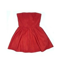 Forever 21 Strapless Satin Red Dress Sz S Mini Club Party Cocktail Prom ... - $19.79
