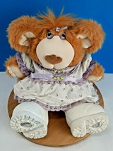 "FURSKINS Lila Claire Lilac Girl Plush Bear 14"" Cabbage Patch Xavier Roberts - $27.75"