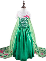 Fashion Lovely floral green costume,green maxi dress, Girl Cute dress   - $24.99