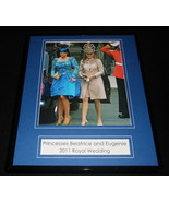 Princess Beatrice & Eugenie 2011 Royal Wedding Framed 11x14 Photo Display - $32.36