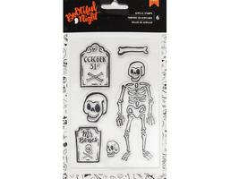 "American Crafts ""Bootiful Night"" Halloween Stamp Set - 6 Pieces"